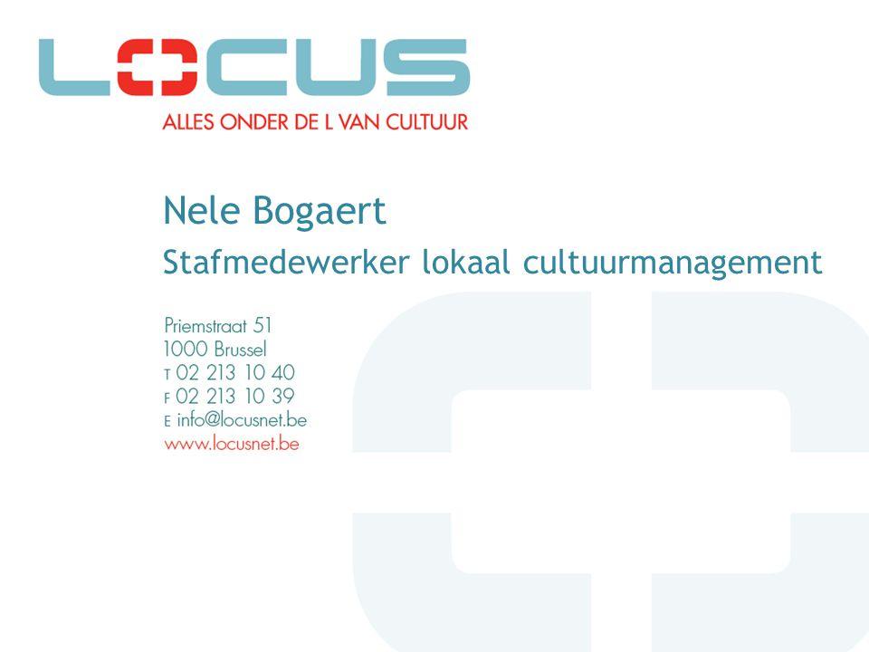 Nele Bogaert Stafmedewerker lokaal cultuurmanagement