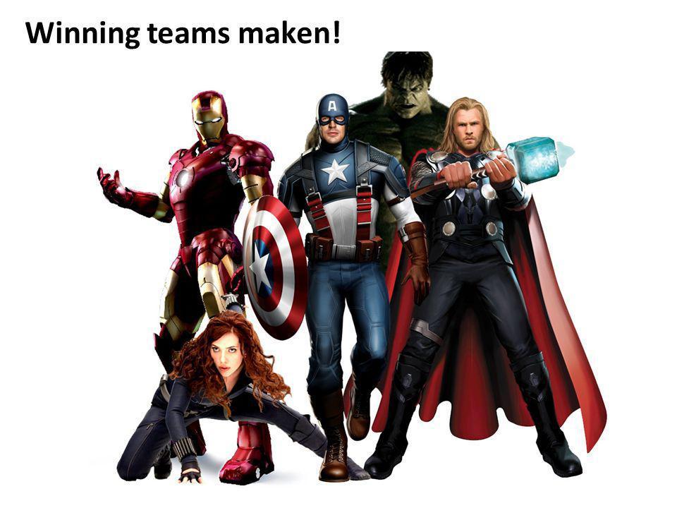 Winning teams maken!