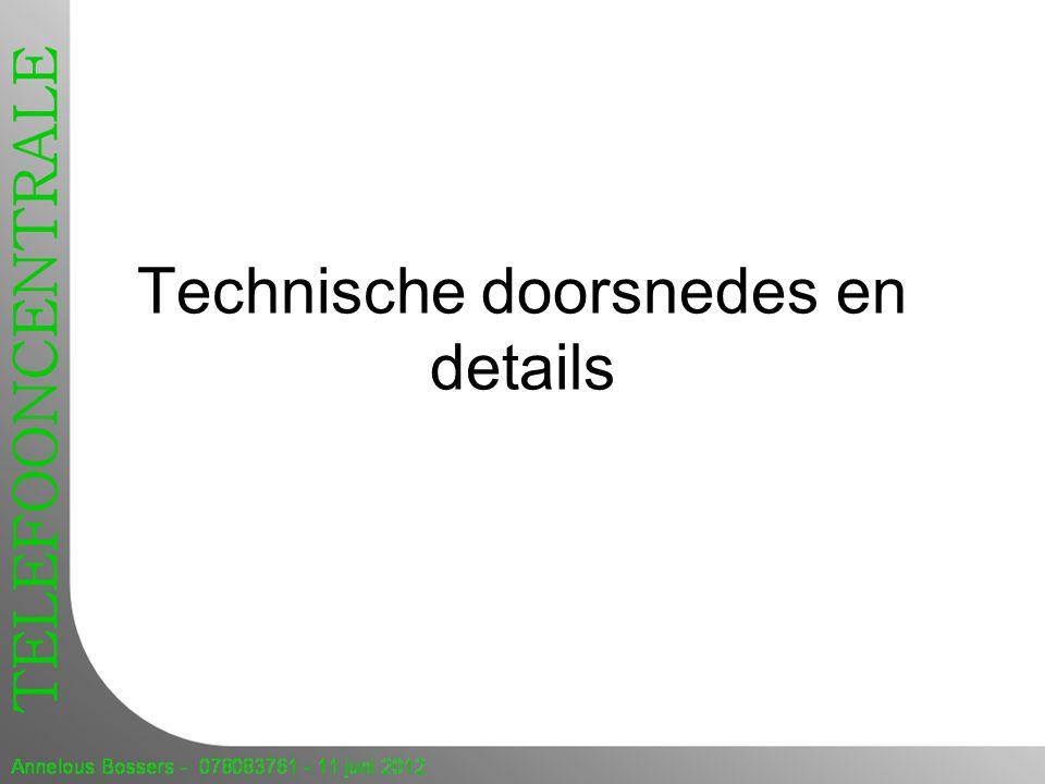 Technische doorsnedes en details
