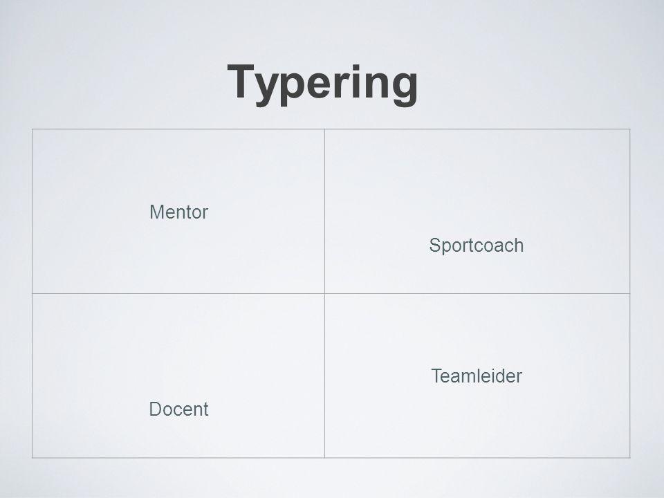 Typering Mentor Sportcoach Docent Teamleider