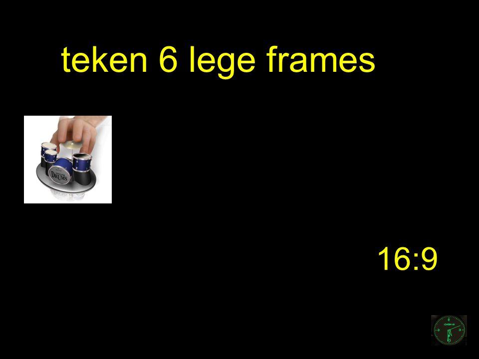 16:9 teken 6 lege frames