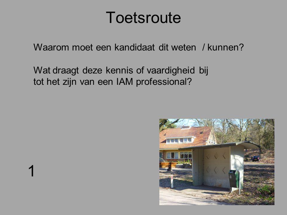 Toetsroute 2 Vertaal het blokje kennis of de vaardigheid in een een antwoord en eventueel een in beantwoordingsmodel.