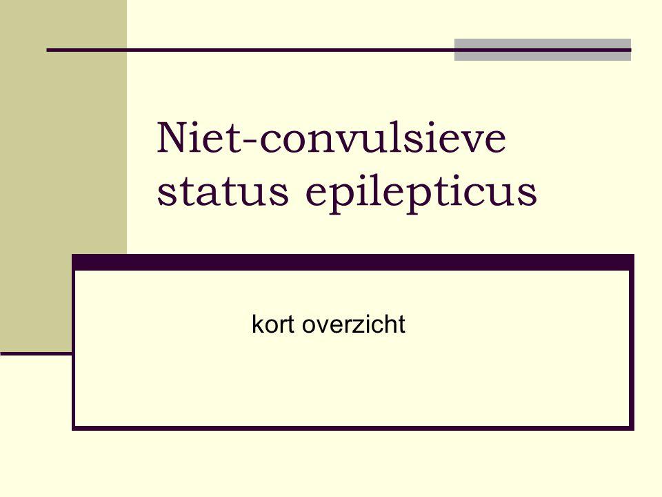 Niet-convulsieve status epilepticus kort overzicht