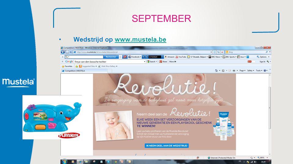SEPTEMBER Wedstrijd op www.mustela.bewww.mustela.be