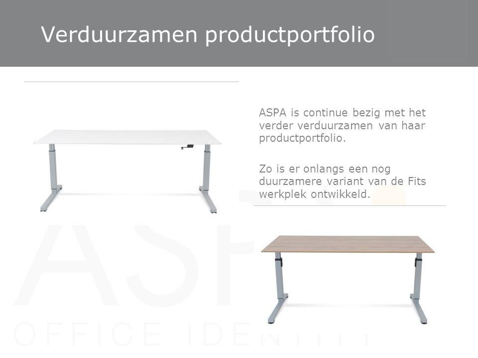 Verduurzamen productportfolio ASPA is continue bezig met het verder verduurzamen van haar productportfolio. Zo is er onlangs een nog duurzamere varian
