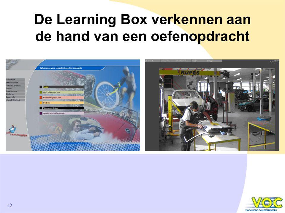 19 De Learning Box verkennen aan de hand van een oefenopdracht