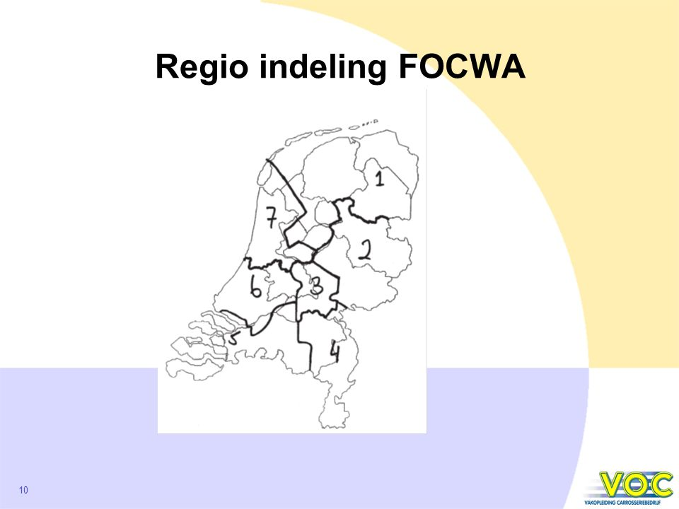 10 Regio indeling FOCWA