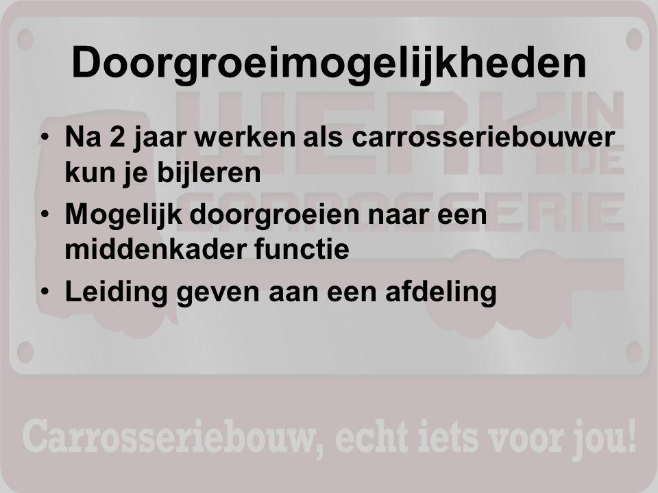 Meer weten Kijk op www.vocar.nl/leerlingen/ Hier vind je ervaringen van andere leerlingen, een informatieve film over carrosseriebouw en andere informatie