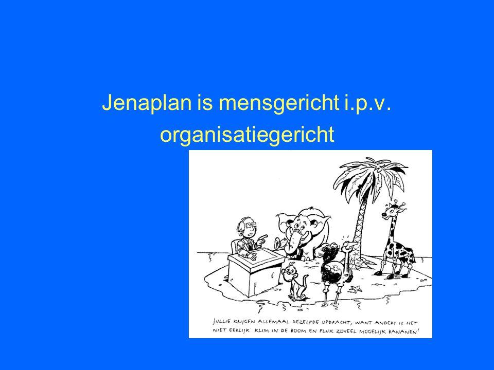 Jenaplan is mensgericht i.p.v. organisatiegericht