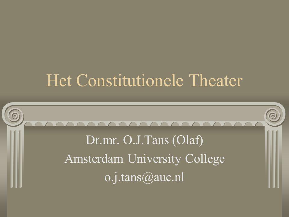 Het Constitutionele Theater Dr.mr. O.J.Tans (Olaf) Amsterdam University College o.j.tans@auc.nl