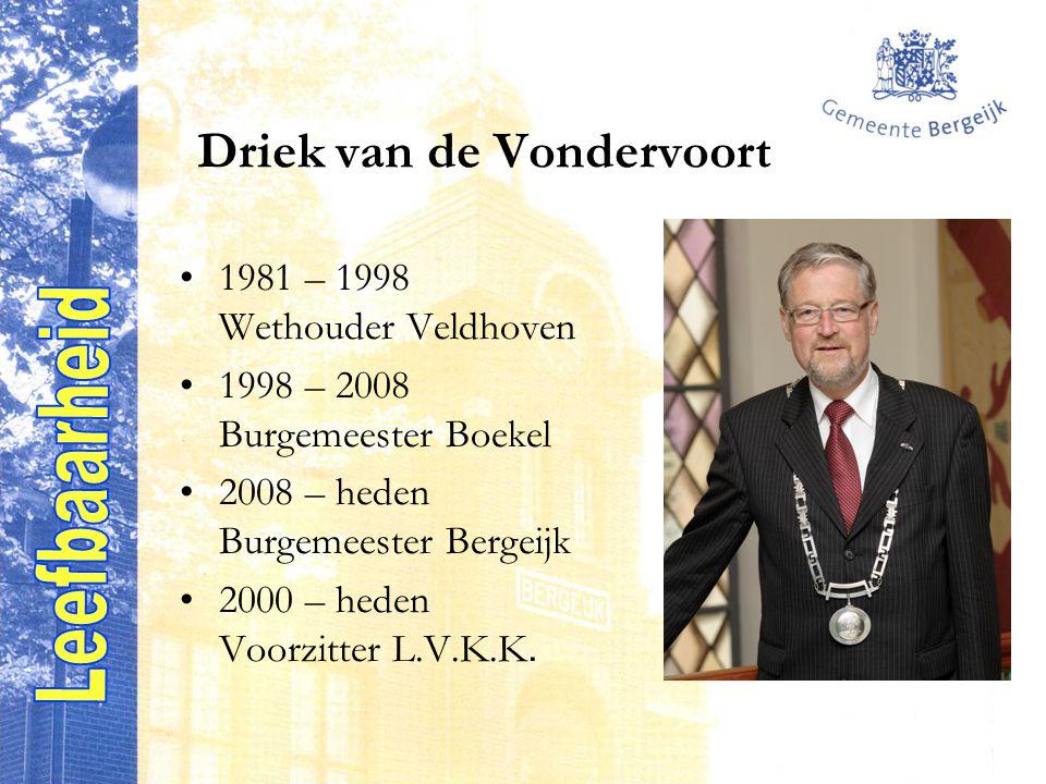 1981 – 1998 Wethouder Veldhoven 1998 – 2008 Burgemeester Boekel 2008 – heden Burgemeester Bergeijk 2000 – heden Voorzitter L.V.K.K.