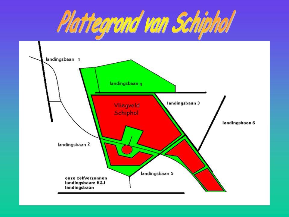 Opdracht 1: Een plattegrond maken van de landingsbanen en een eigen landingsbaan maken en in kaart zetten. We moesten ook informatie over de landingsb
