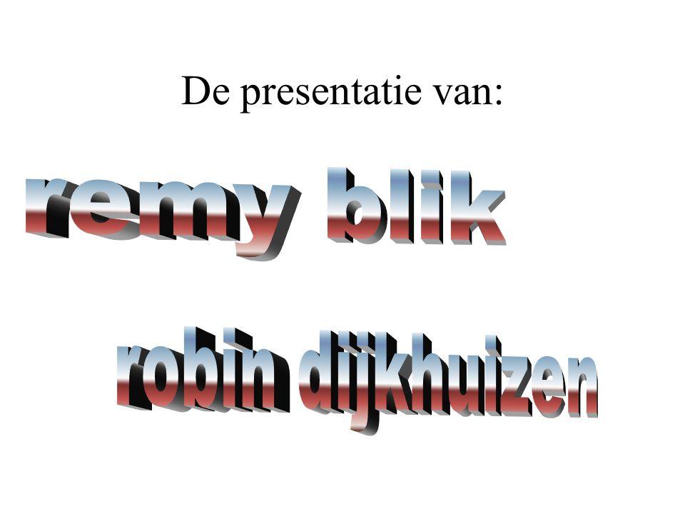 De presentatie van: