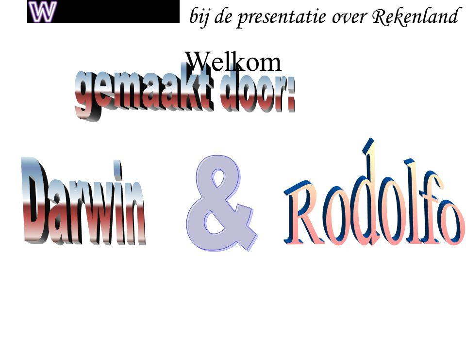 bij de presentatie over Rekenland Welkom