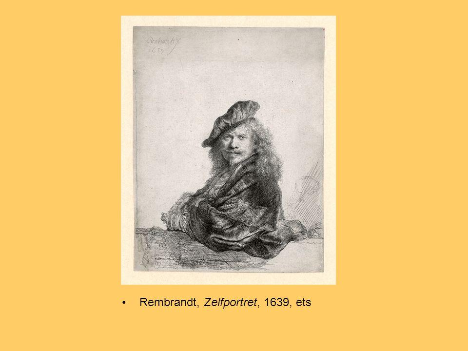 Rembrandt, Zelfportret, 1639, ets