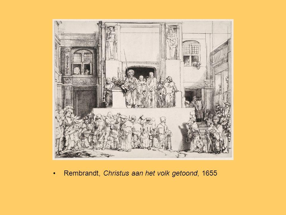 Rembrandt, Christus aan het volk getoond, 1655, veranderde plaat