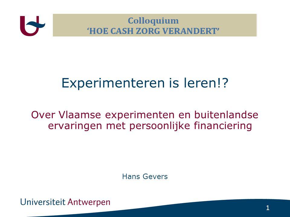 1 Experimenteren is leren!.