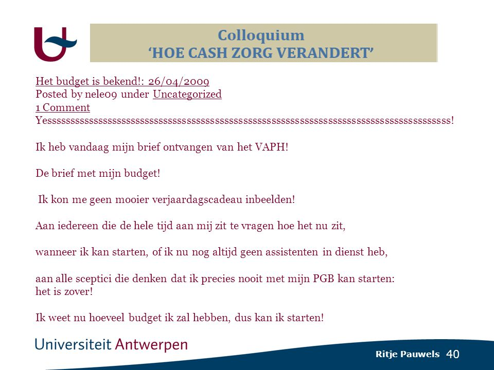 40 Het budget is bekend!: 26/04/2009 Posted by nele09 under Uncategorized 1 Comment Uncategorized 1 Comment Yessssssssssssssssssssssssssssssssssssssssssssssssssssssssssssssssssssssssssssssssssssss.
