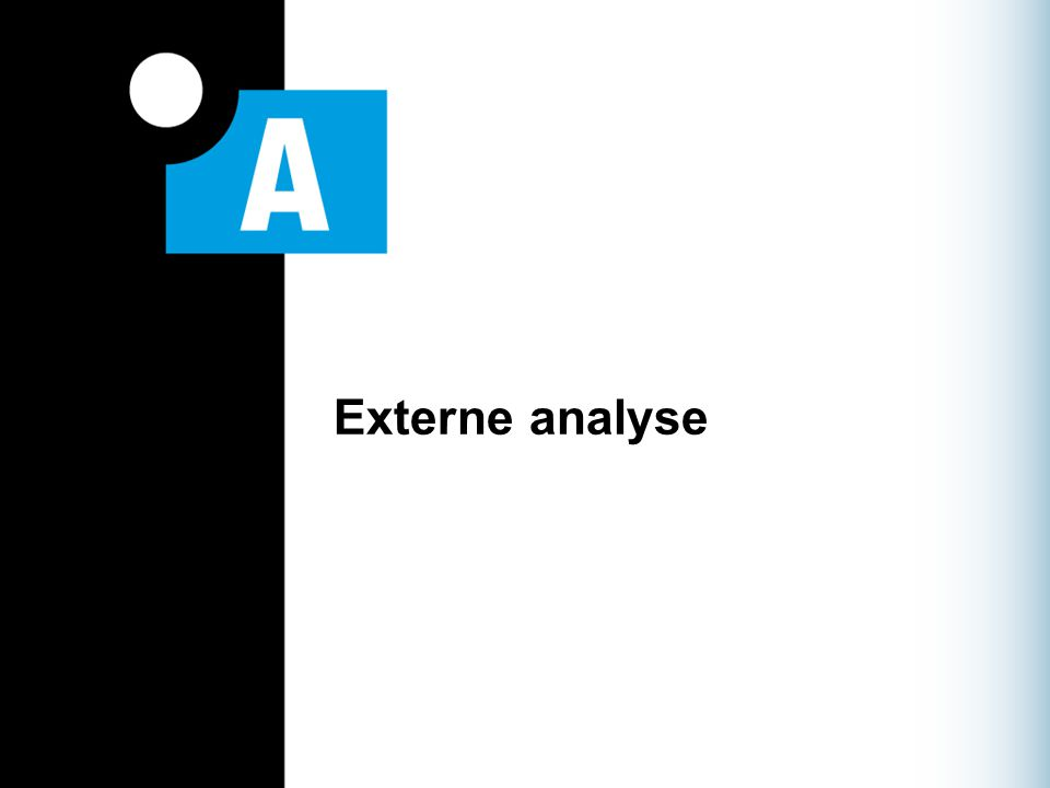 Externe analyse