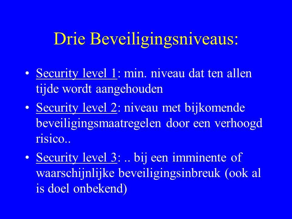 PfSP: Haven..beveiligingsplan: Mag door een erkend beveiliging- organisatie (RSO) Voor Nederland en Vlaanderen: in het Nederlands (mag elektronisch) bevat min.