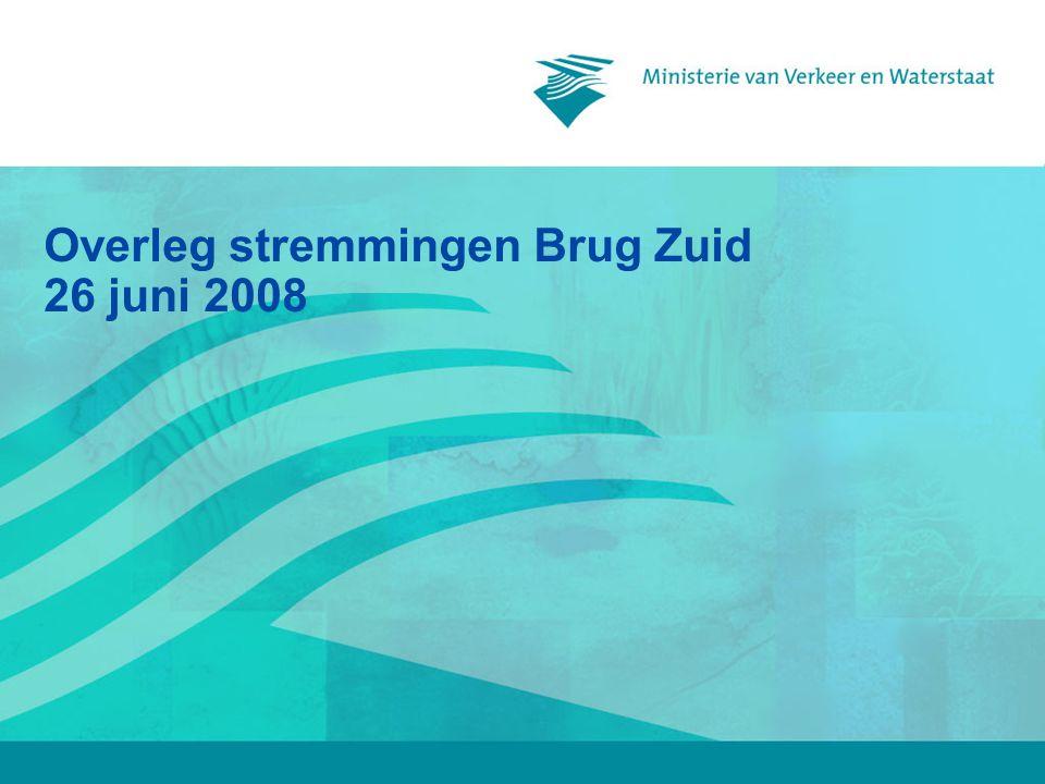 Overleg stremmingen Brug Zuid 26 juni 2008