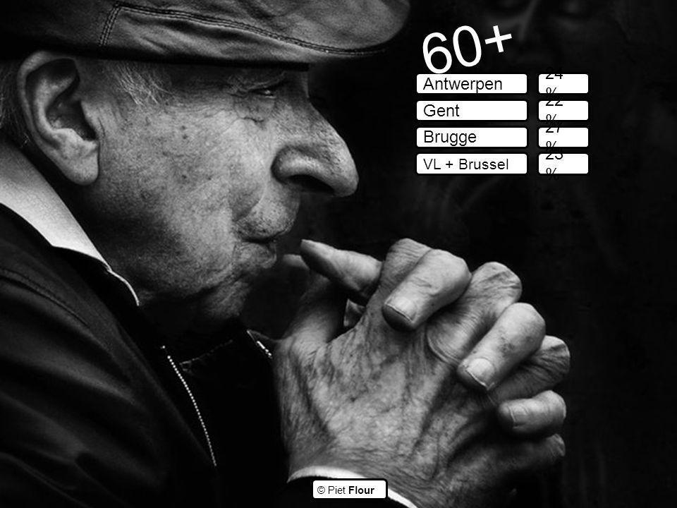 ©© © Piet Flour Antwerpen Gent Brugge VL + Brussel 60+ 24 % 22 % 27 % 23 %