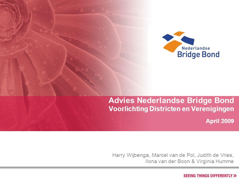 Advies Nederlandse Bridge Bond Voorlichting Districten en Verenigingen Harry Wijbenga, Marcel van de Pol, Judith de Vries, Ilona van der Boon & Virgin