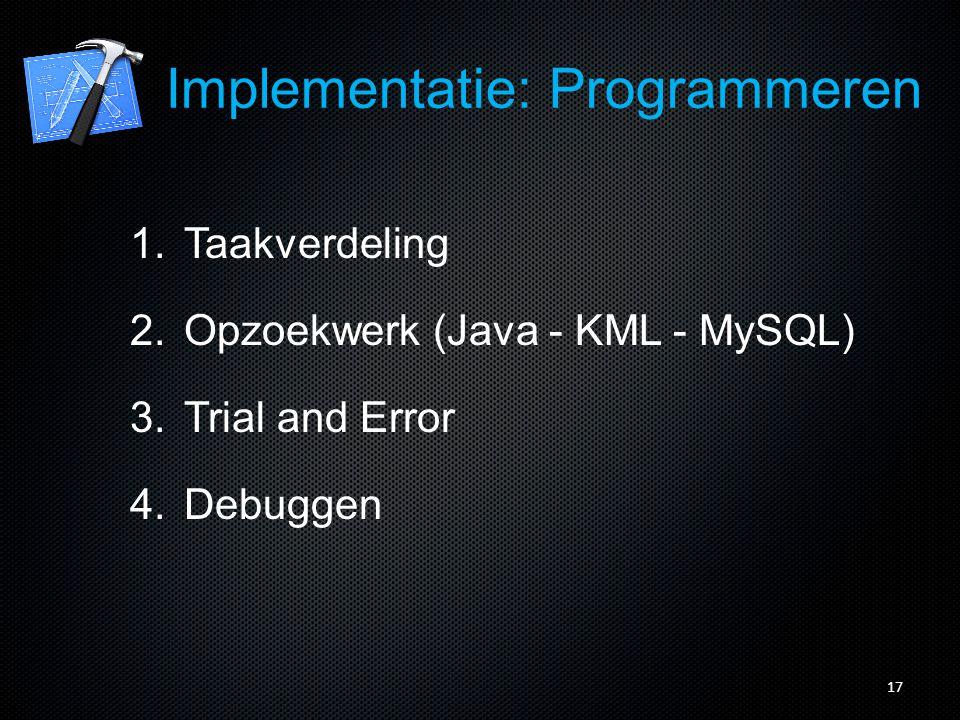 18 Implementatie: Programmeren
