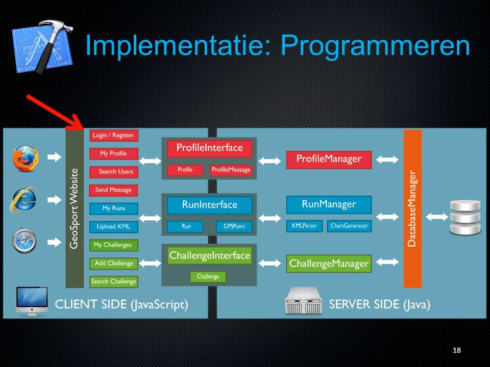 19 Implementatie: Programmeren
