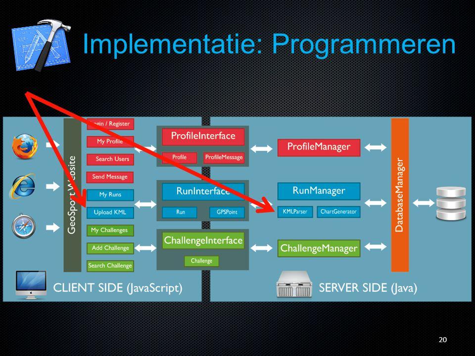 21 Implementatie: Programmeren