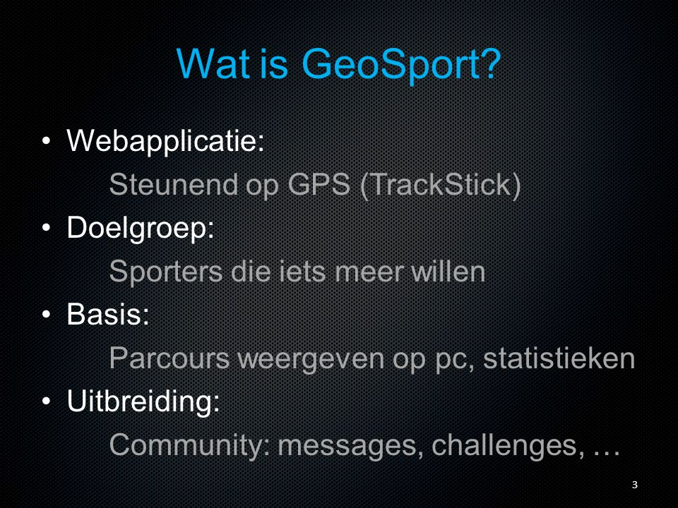 Wat is GeoSport.