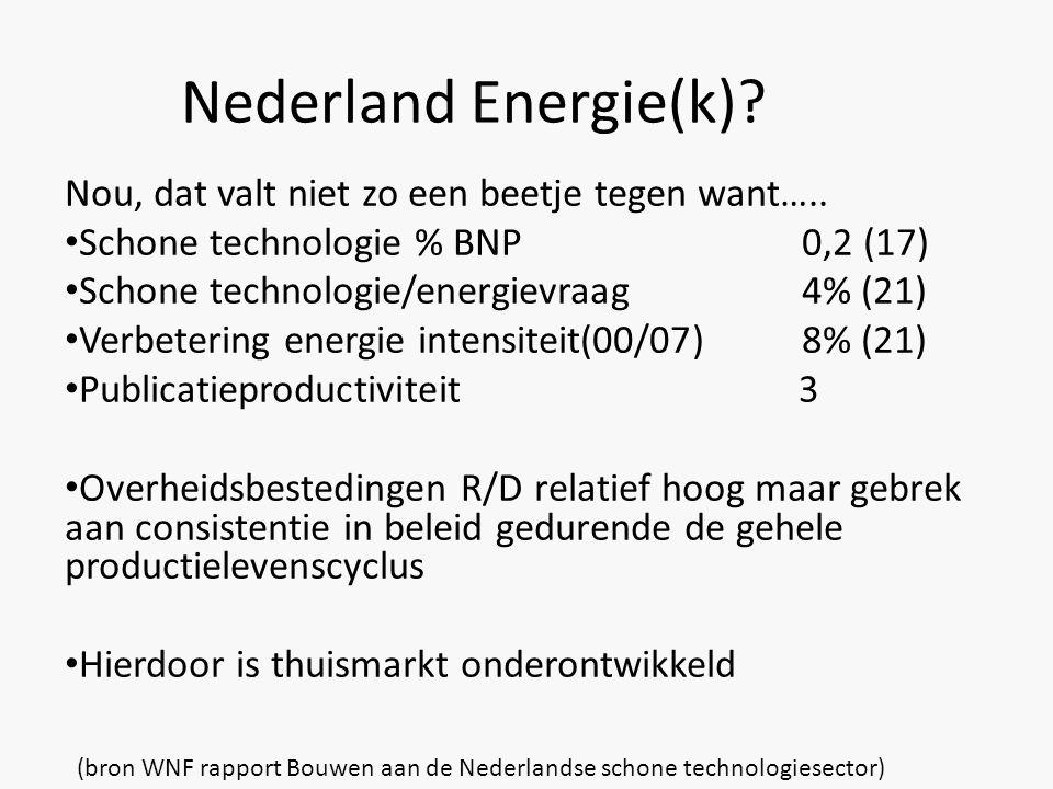 Nederland Energie(k). Nou, dat valt niet zo een beetje tegen want…..