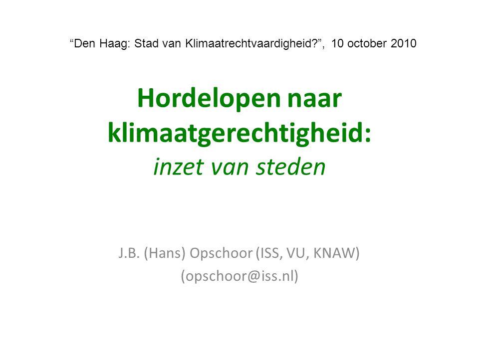 Hordelopen naar klimaatgerechtigheid: inzet van steden J.B.