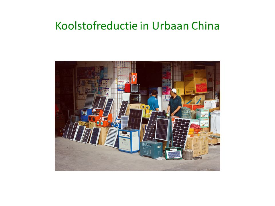 Koolstofreductie in Urbaan China