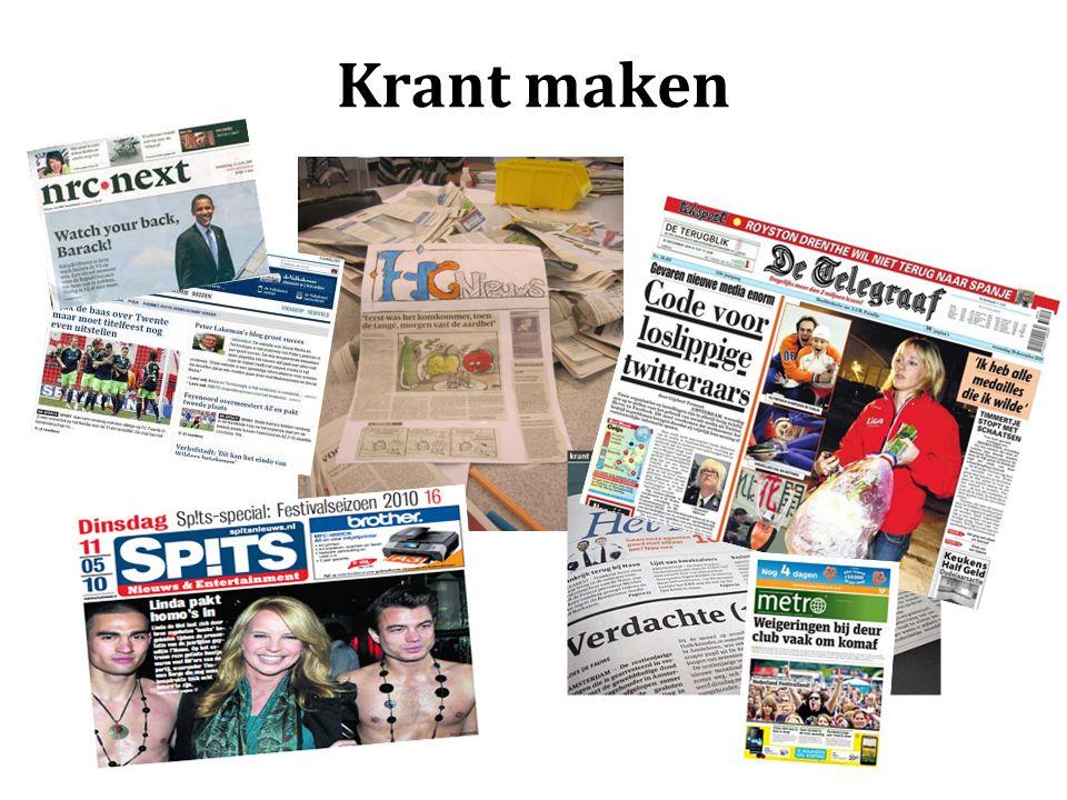 Krant maken