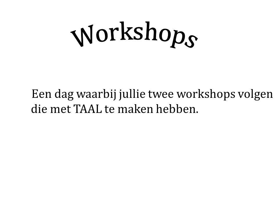 Uit welke workshops kan je kiezen?