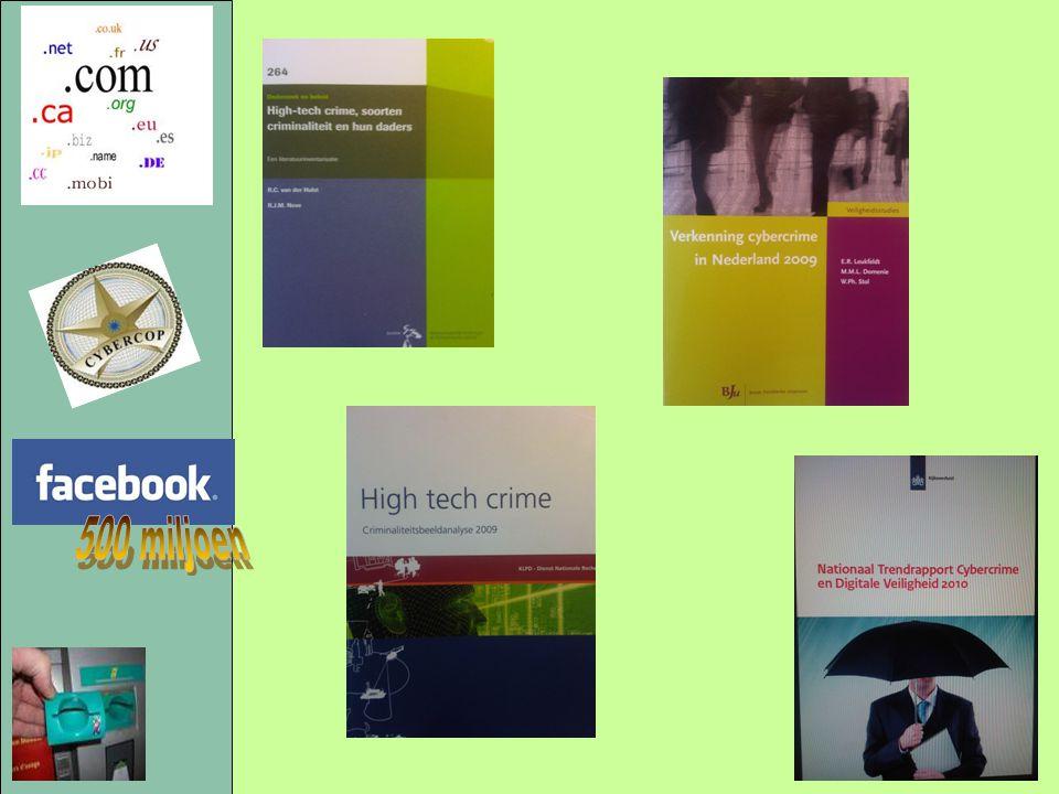 Van der Hulst en Neve 2010: - literatuuroverzicht mbt wat (in 2008) bekend is van daders; GovCERT 2010: - problemen / risico's nemen toe; - veel initiatieven tegen cybercrime, maar geen coördinatie; - burger waant zich veilig.
