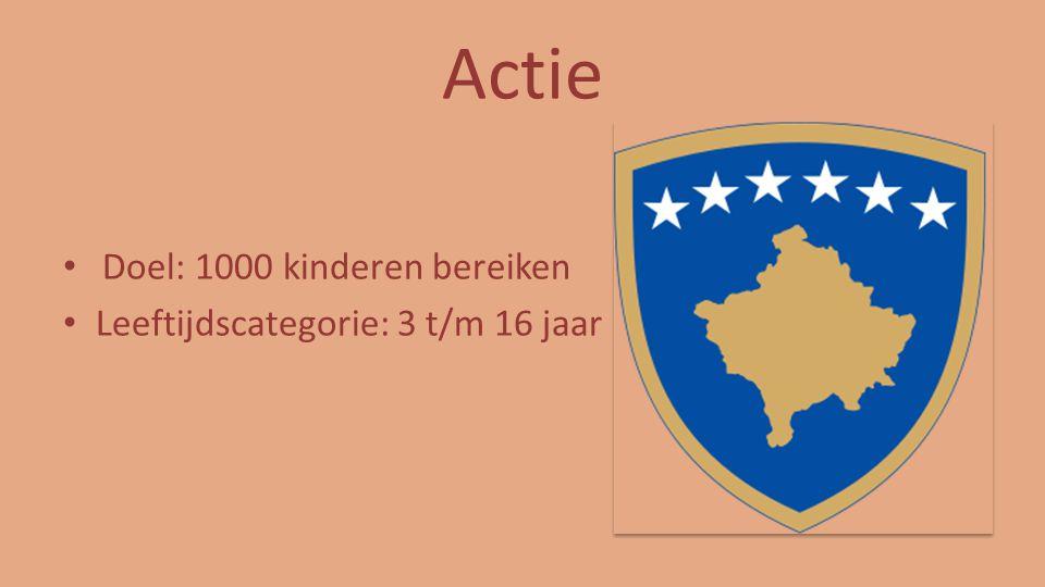 Actie Doel: 1000 kinderen bereiken Leeftijdscategorie: 3 t/m 16 jaar