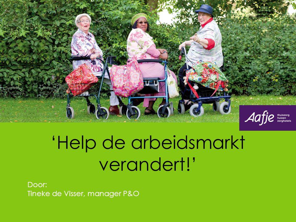 'Help de arbeidsmarkt verandert!' Door: Tineke de Visser, manager P&O