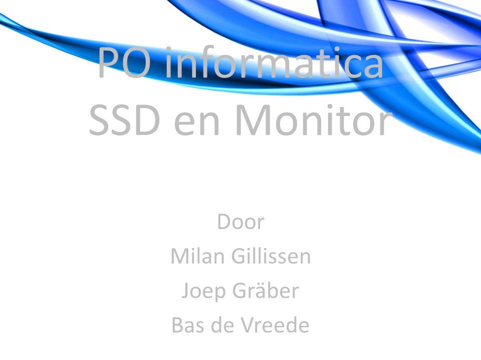 SSD Solid State Drive (=SSD of RAM disk): voor gegevens opslag, geen bewegende delen; dus je kunt er snel bij (0,1 milliseconde) en minder fouten