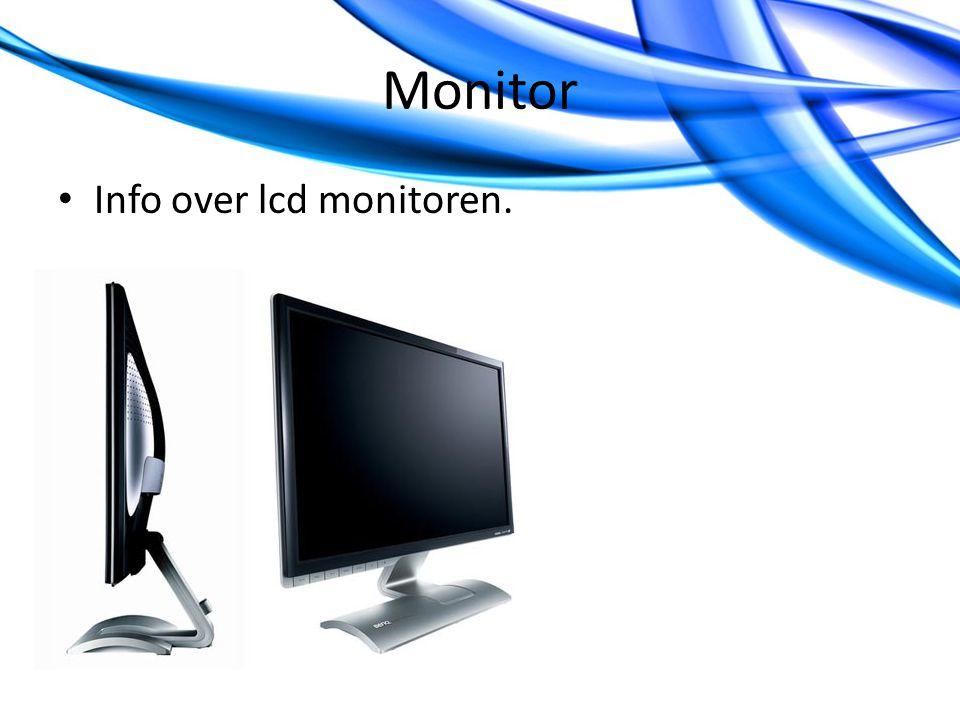 Monitor Info over lcd monitoren.