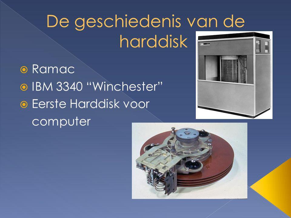  Ramac  IBM 3340 Winchester  Eerste Harddisk voor computer