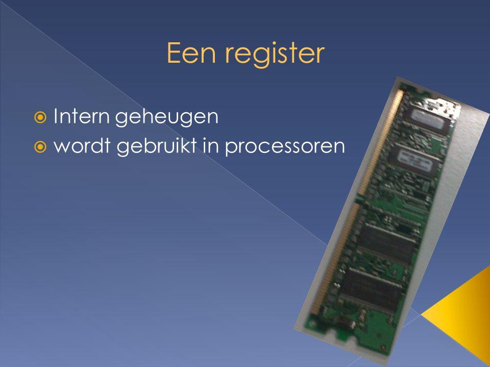  Intern geheugen  wordt gebruikt in processoren