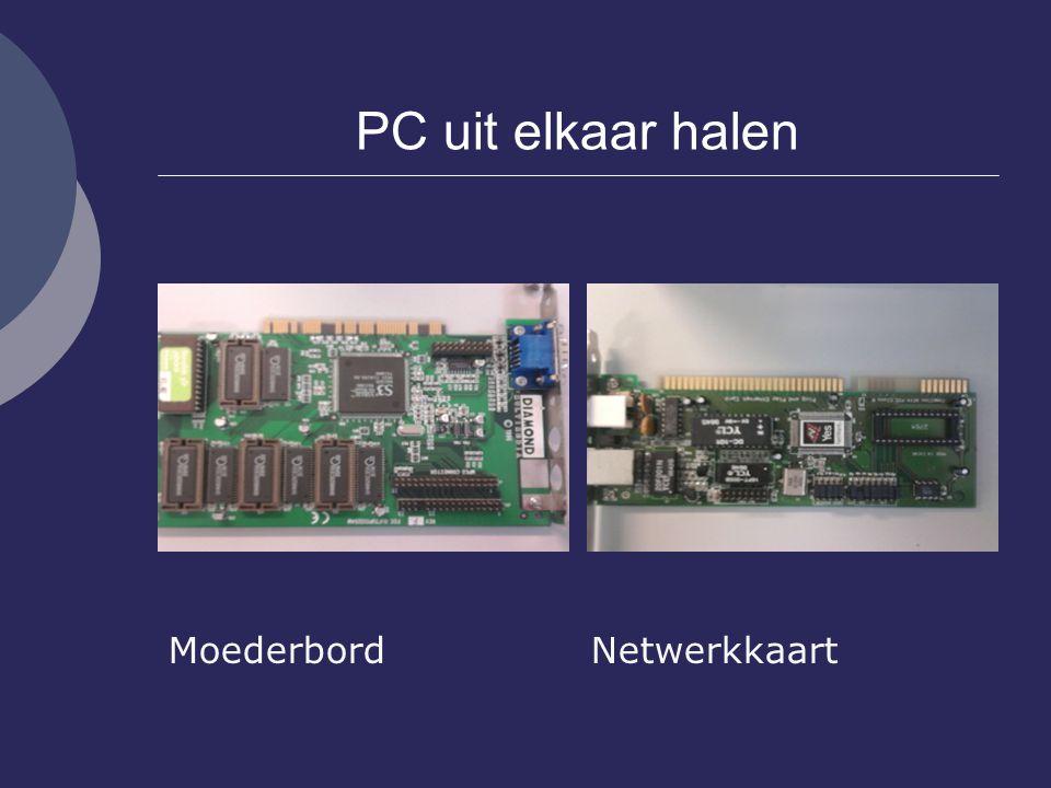 PC uit elkaar halen Moederbord Netwerkkaart