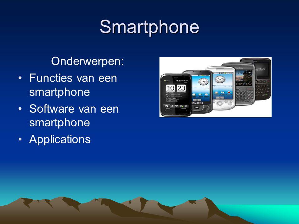 Functies van een smartphone