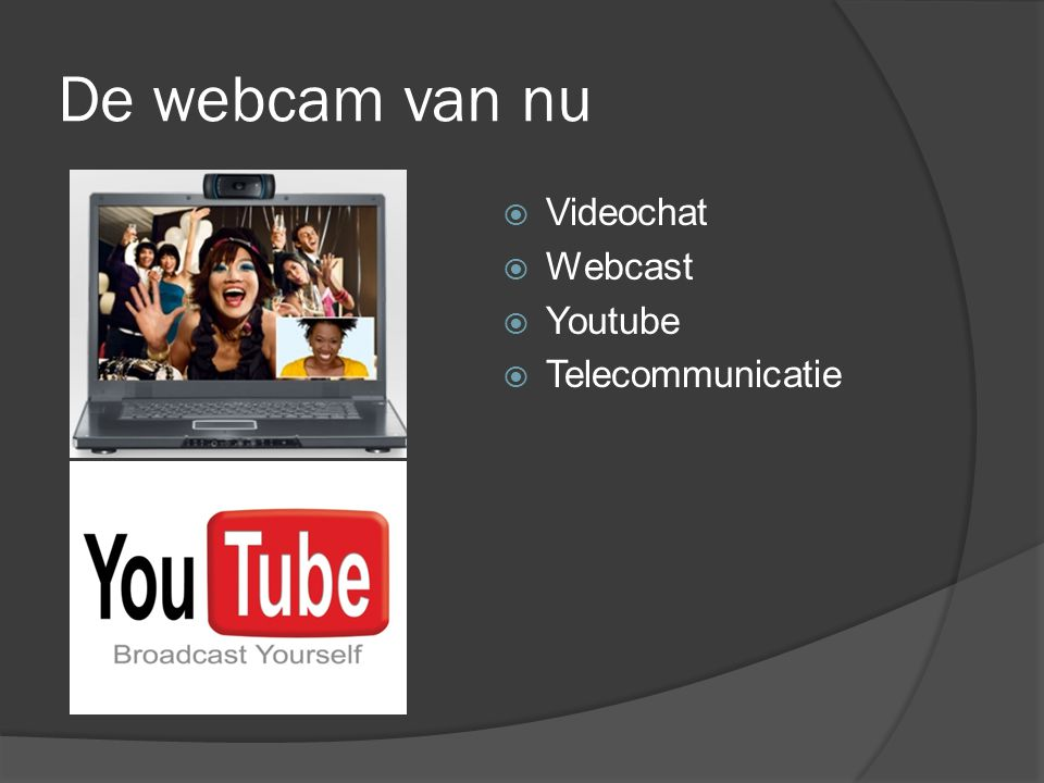 De webcam van nu  Videochat  Webcast  Youtube  Telecommunicatie