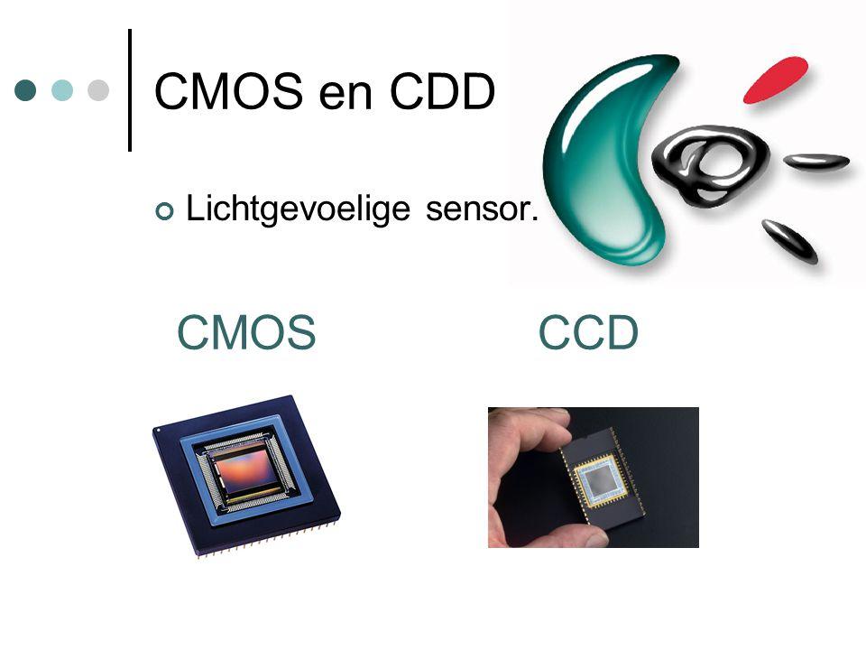 CMOS en CDD Lichtgevoelige sensor. CMOSCCD