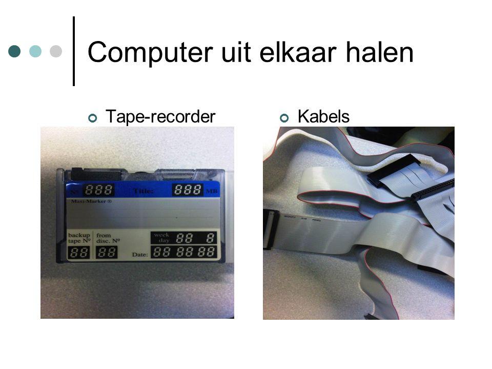 Computer uit elkaar halen Tape-recorderKabels