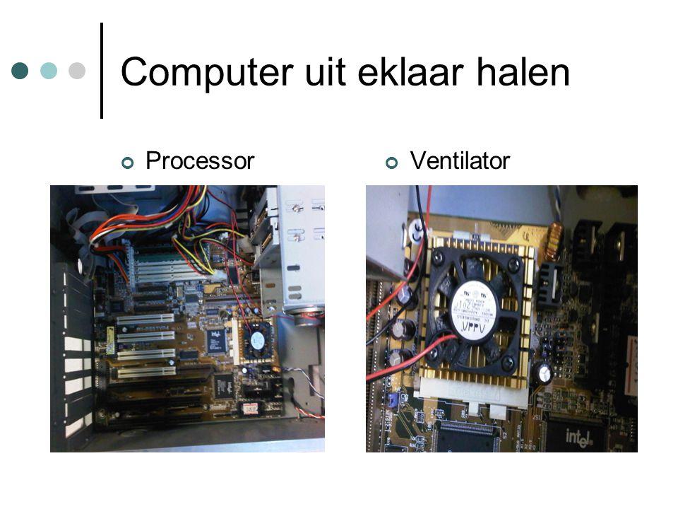 Computer uit eklaar halen ProcessorVentilator