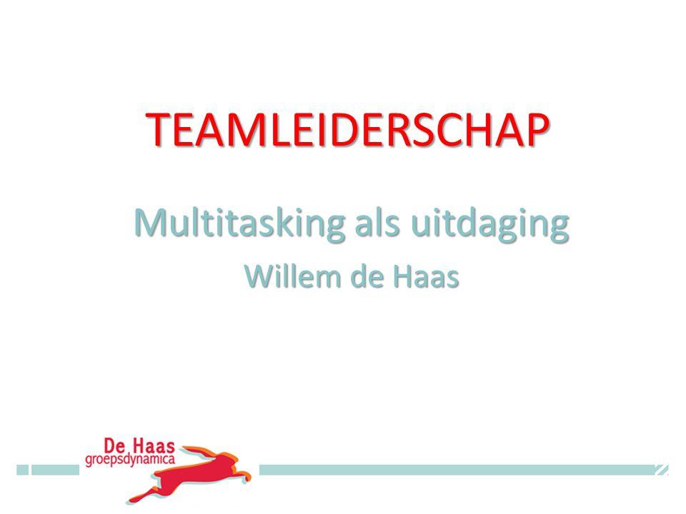 TEAMLEIDERSCHAP Multitasking als uitdaging Willem de Haas © Willem de Haas